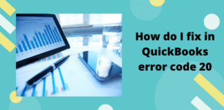 How do I fix in QuickBooks error code 20