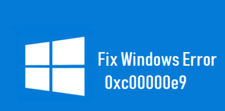 Windows Error Code 0xc00000e9 – Causes and How to Fix It