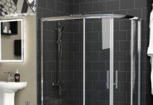 quadrant offset shower enclosure