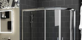 quadrant offset shower enclosure